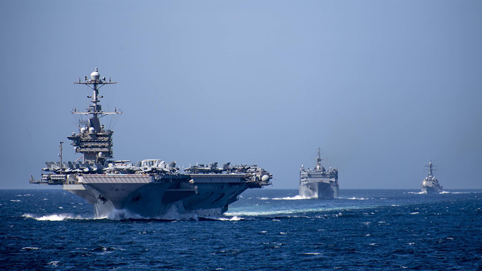 圖為美國核動力航空母艦「尼米茲號」(USS Nimitz)資料照。(US Navy Photo)