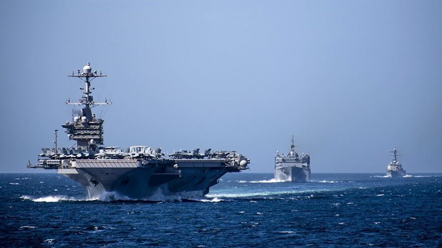 台海與中印邊境緊張 美三航母齊聚印太
