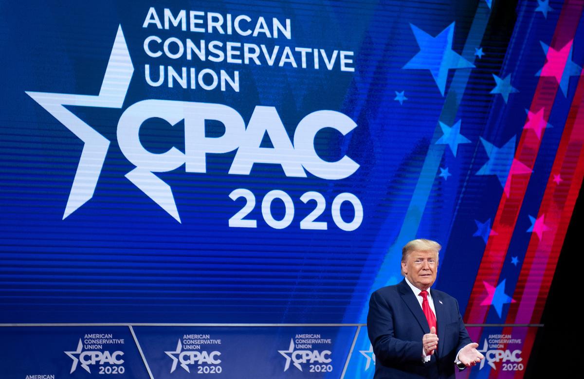 美國保守主義捍衛者真正的敵人,到如今應該是中國共產黨。圖為美國總統特朗普在2020年2月29日親臨在馬利蘭舉行的保守派政治行動大會(CPAC)。(SAUL LOEB/AFP via Getty Images)