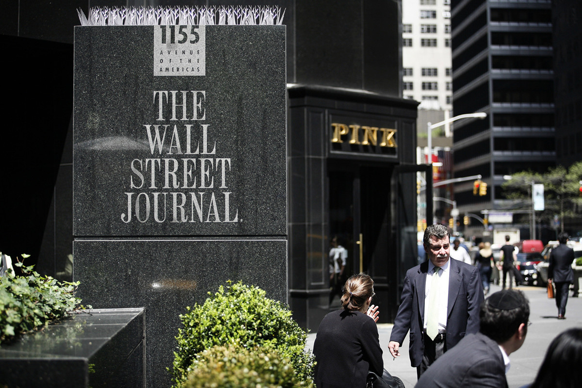 《紐約時報》專欄作家發表文章,批評北京驅逐三名《華爾街日報》記者。(Michael Nagle/Getty Images)