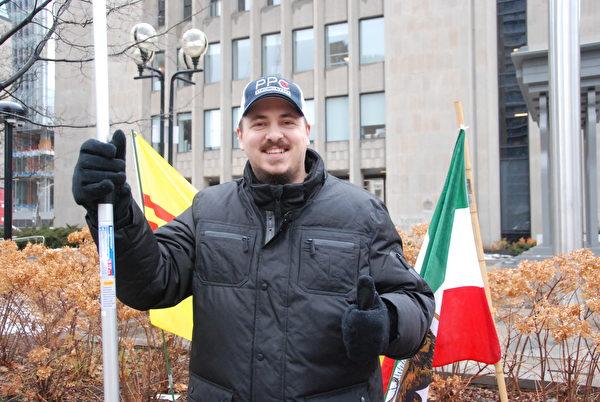 來自薩省的科迪·帕亞特(Cody Payant)認為,加拿大和美國是近鄰,美國發生的任何事情都會影響到加拿大人。(伊鈴/大紀元)