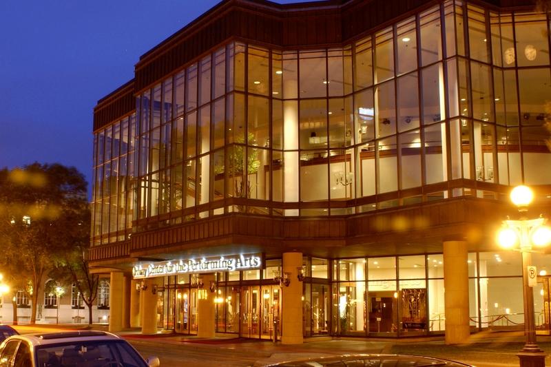 2020年2月20日晚,神韻世界藝術團在美國聖保羅奧德威表演藝術中心首演。(Ordway Center for the Performing Arts)的首場演出滿場。圖為奧德威表演藝術中心外景。(維基百科)