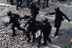 組圖:港理工大被困抗議者多次嘗試突圍