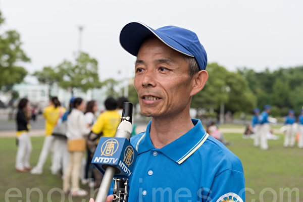 醫學博士楊貴遠因不願意放棄對法輪功「真、善、忍」的信仰,遭受中共的迫害,2004年被迫離開大陸來到日本。(游沛然/大紀元)