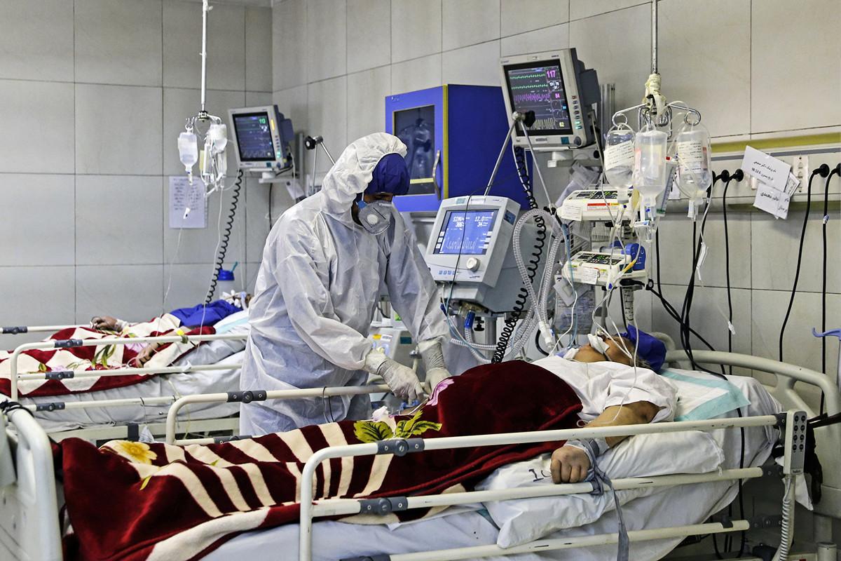 伊朗中共病毒患者增多,醫院床位短缺。圖為德黑蘭一家醫院。(KOOSHA MAHSHID FALAHI/MIZAN NEWS AGENCY/AFP)