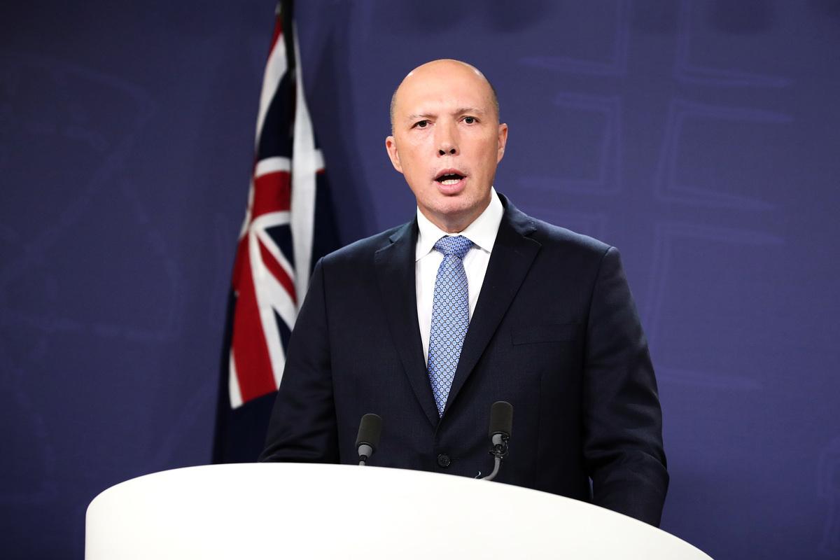 澳洲國防部長達頓(Peter Dutton)表示,澳洲國防軍現在的重點是在充滿不確定的時期「為國內提供支持,保障澳洲的安全」。(Cameron Spencer/Getty Images)