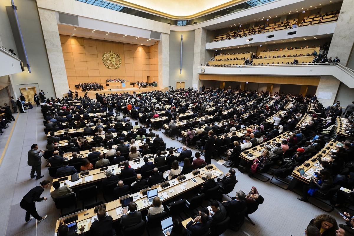 第七十三屆世界衛生大會(WHA)於2020年5月18日進行視像會議,台灣仍未收到邀請函。圖為WHA資料照。 (Getty Images)