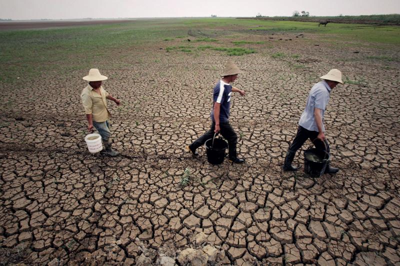 大陸土壤惡化情況嚴重,尤其是重金屬污染。圖為大陸農民。(ChinaFotoPress/Getty Images)