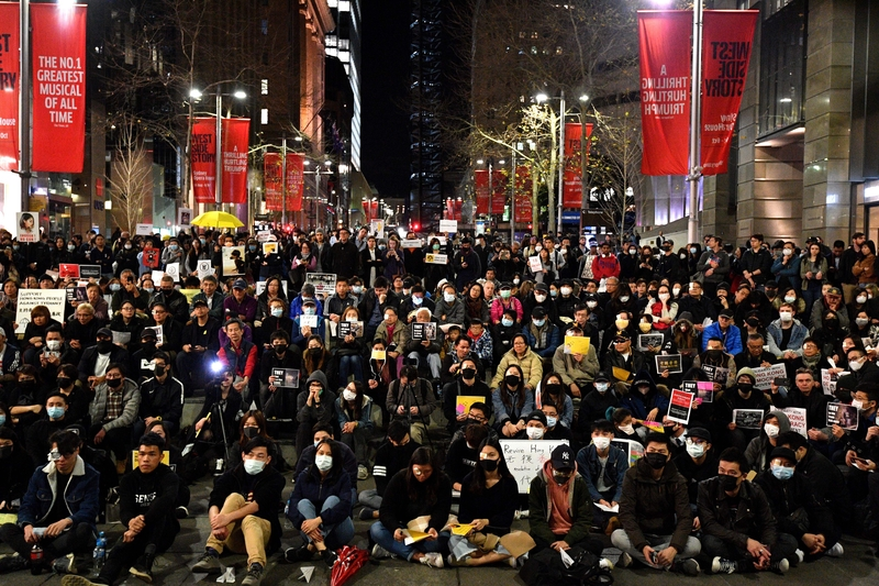 組圖:8.16悉尼反送中集會 親共團體干擾