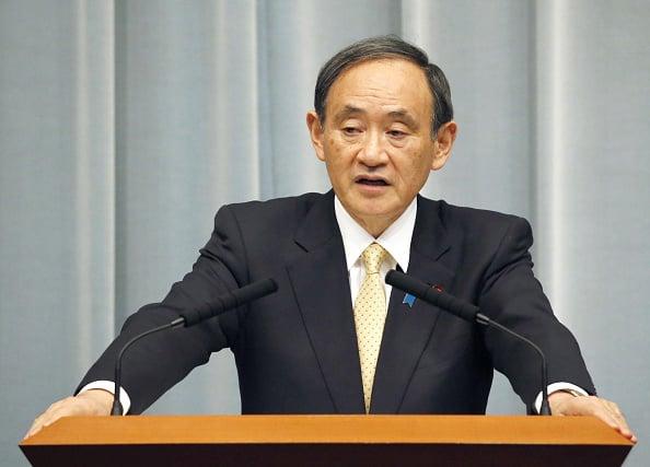 圖為日本新任首相義偉資料圖。(Getty Images)