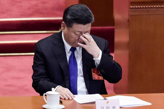 處在一生最大危機中的習近平。(FRED DUFOUR/AFP/Getty Images)