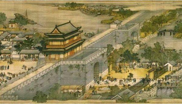 建中靖國元年(1101年),宋徽宗剛登基,就把「舊德元勛」范純仁召回京師,想委以重任。圖為北宋都城汴梁,張擇端《清明上河圖》局部。(公共領域)