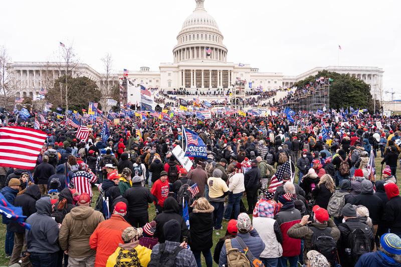 2021年1月6日,美國首都華盛頓DC舉辦「拯救美國」集會及大遊行。(戴兵/大紀元)