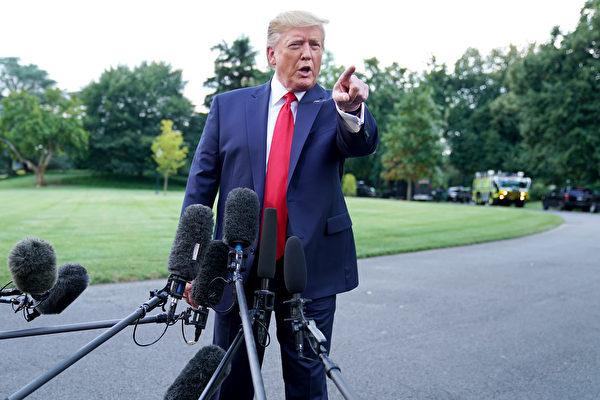 特朗普總統9月4日表示,對中共要非常強硬才行,就像他現在做的。 (Chip Somodevilla/Getty Images)