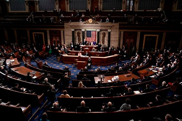 1月6日,國會兩院召開聯席會議,對大選結果進行認證。(J. SCOTT APPLEWHITE/POOL/AFP via Getty Images)