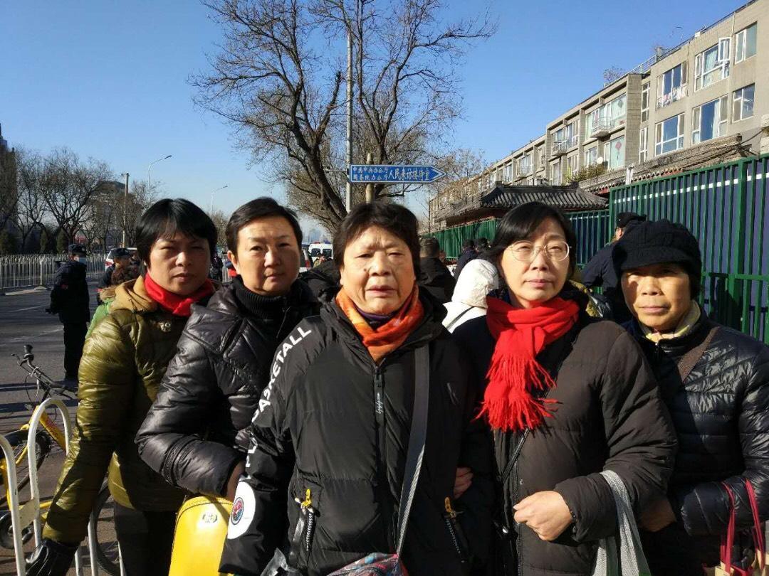 全國各地訪民於平安夜在北京國家信訪局大集訪。(受訪者提供)