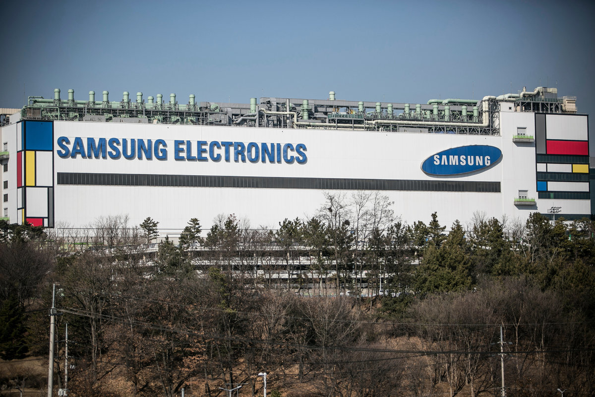 面對英特爾的新佈局,外媒指出,對手台積電仍將擁有晶片市場的主導地位,對南韓三星而言,恐怕會造成較大威脅。圖為三星的工廠。( Jean Chung/Getty Images)