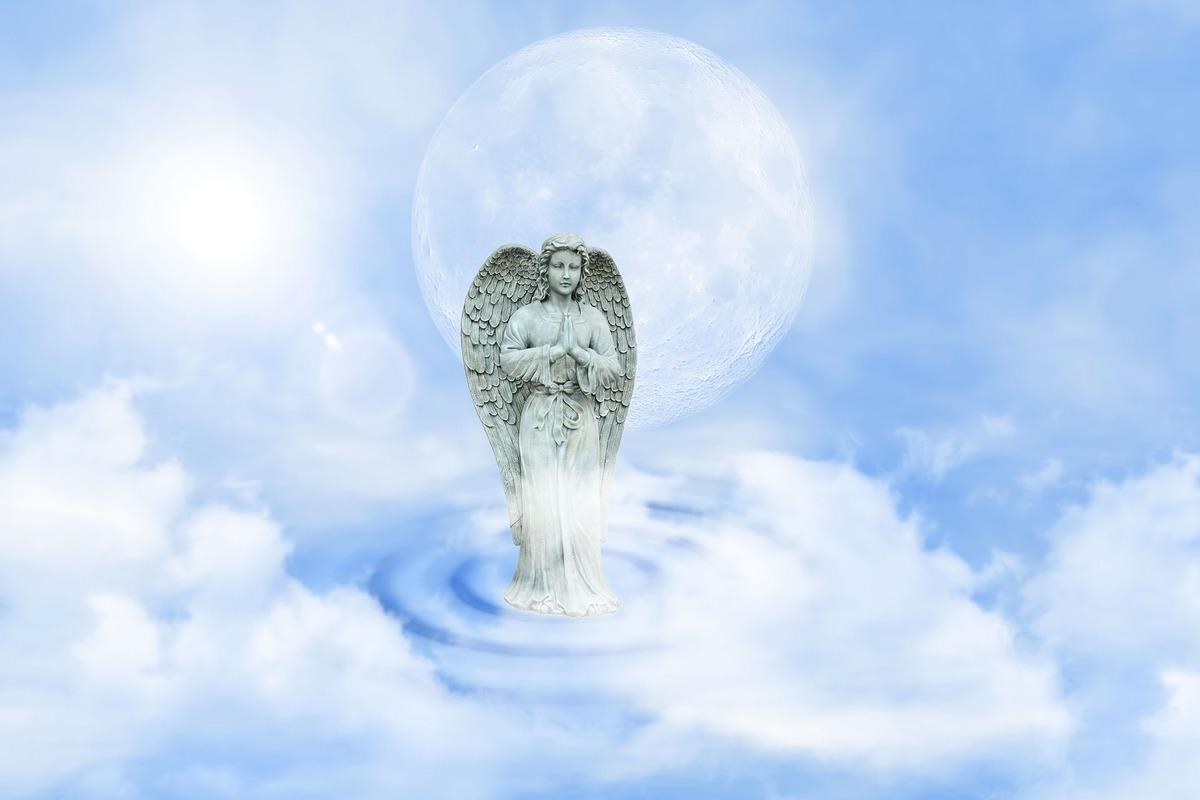 波蘭一棟失火的房屋上空出現酷似守護天使的影像。此為守護天使的示意圖。(Pixabay)