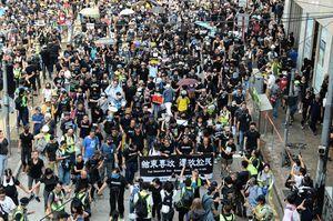 國際聚焦香港十一抗議 中共70年慶黯然失色