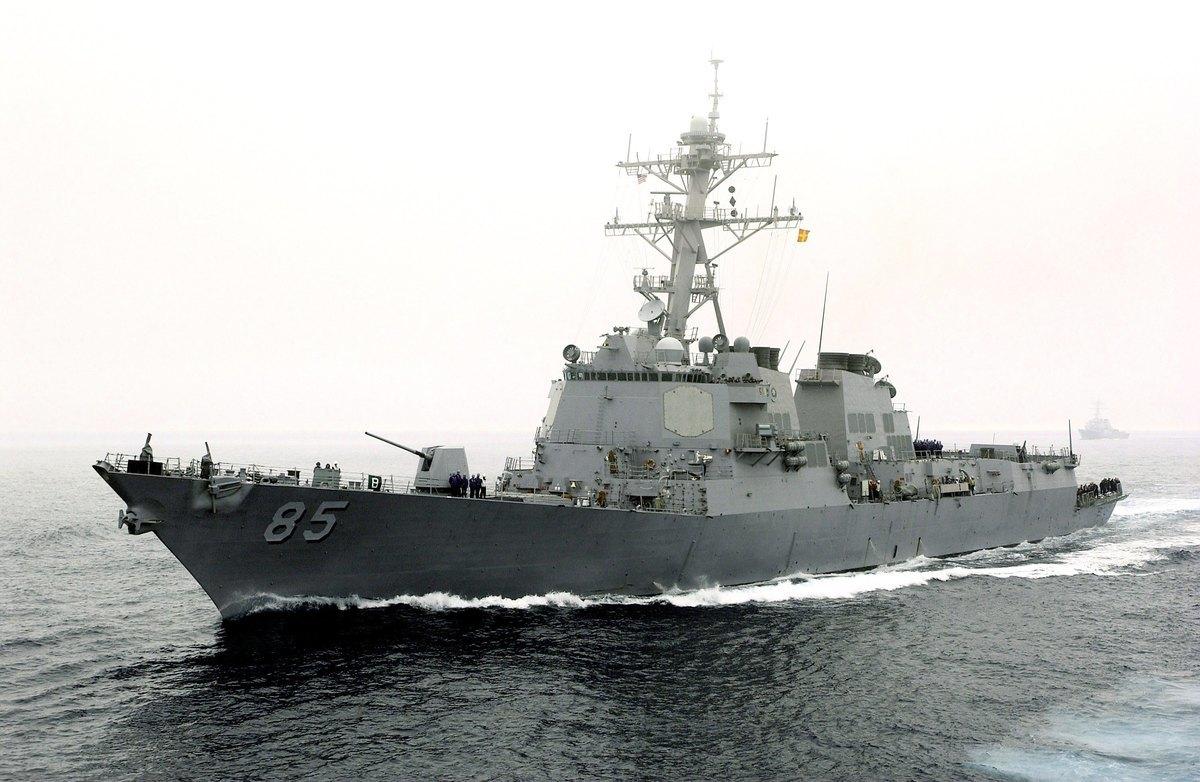 麥康貝爾號5日駛入日本海最大的海灣彼得大帝灣及海參崴附近水域。(Konstandinos Goumenidis/U.S. Navy/Getty Images)