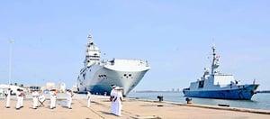 法國海軍戰鬥群抵印度洋參加軍演 將穿越南海