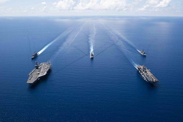 近期,美國特朗普政府對中共的抨擊和制裁層出不窮。(Erwin Jacob V. MICIANO / Navy Office of Information / AFP)