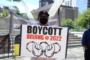 抵制北京冬奧|響應全球行動日 多倫多16團體集會