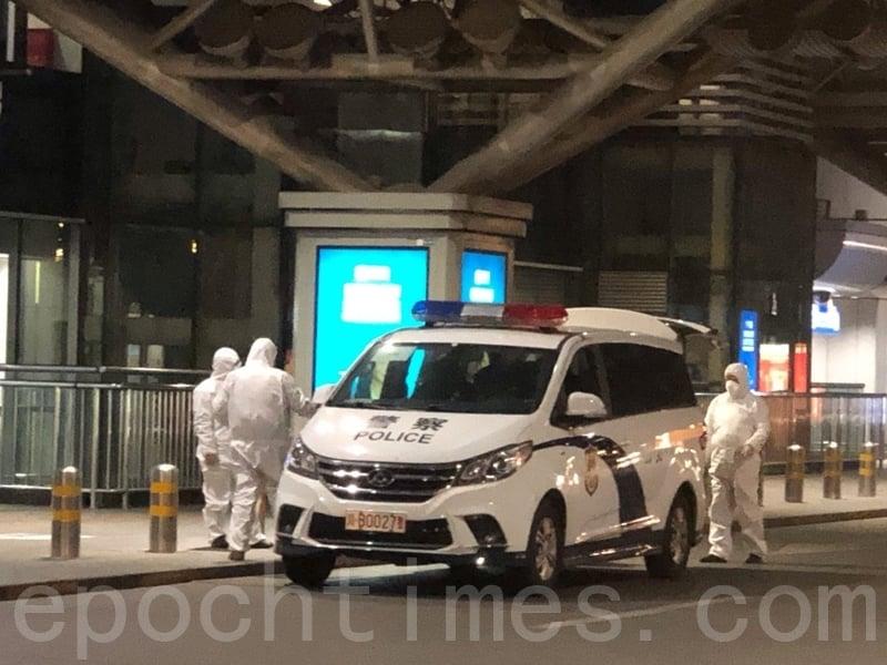 組圖:入境需隔離14天 北京機場空蕩蕩