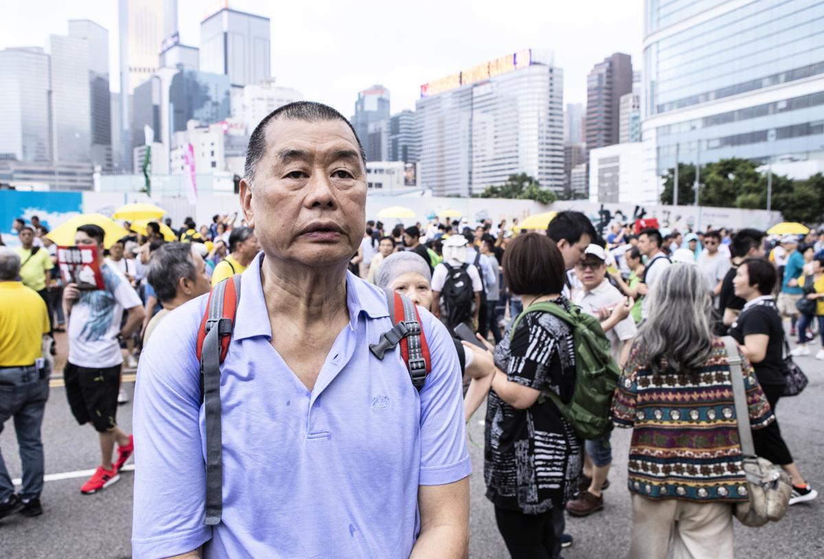 壹傳媒創辦人黎智英8月10日上午遭港警逮捕,資料照。(余鋼/大紀元)