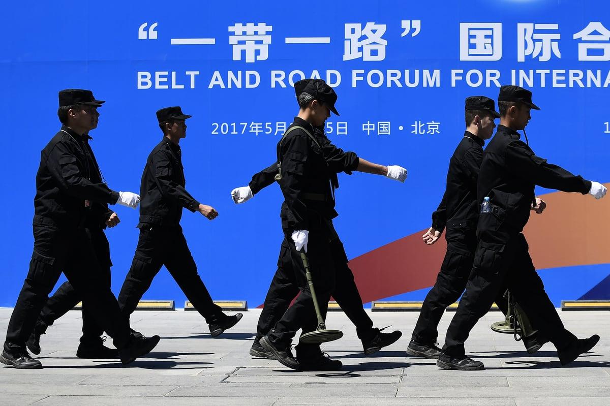 中共提出的「一帶一路」項目,不僅被指是具有經濟目的,而且還被指具有政治目的。圖為示意照。 (AFP)