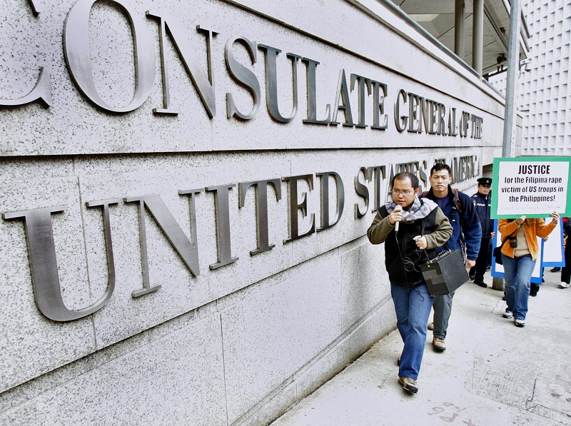 美國駐香港總領館。 (TED ALJIBE/AFP/Getty Images)