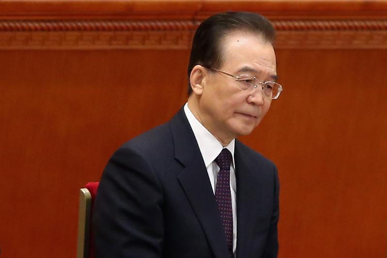 圖為中共前總理溫家寶資料照。(Feng Li/Getty Images)
