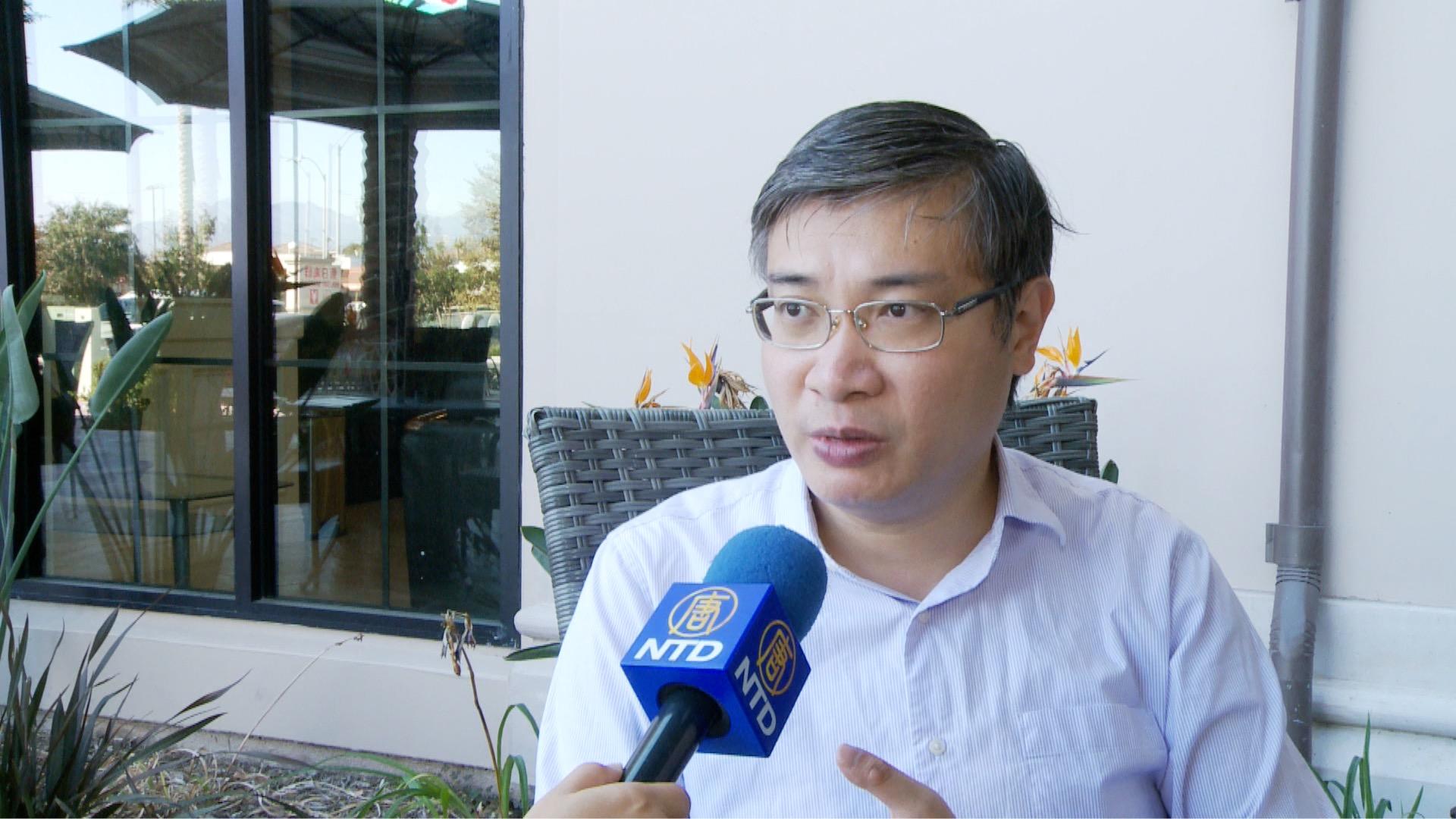 台灣香港協會理事長桑普接受專訪,暢談港人移居台灣的現況。資料照。(新唐人電視台)