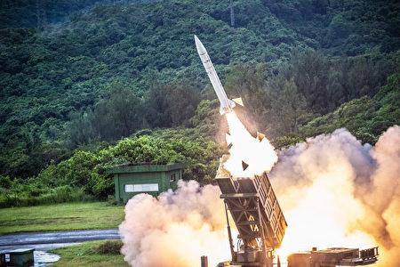 台灣天弓一型導彈。(中央社)