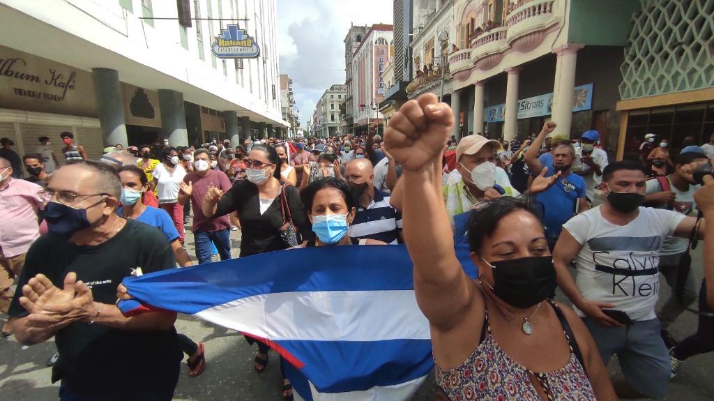 古巴爆大規模抗議 要結束共產主義獨裁統治