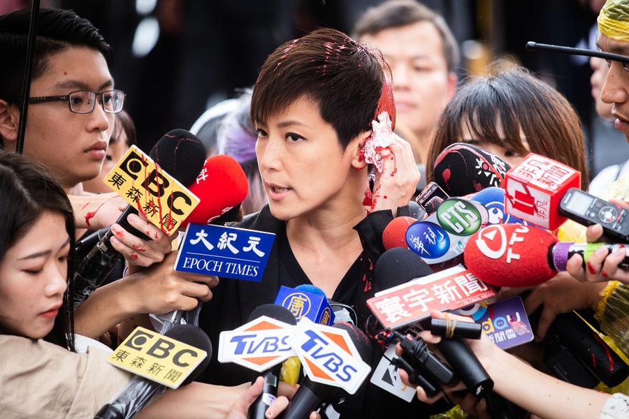 何韻詩遭潑漆案 台北地檢署起訴11人