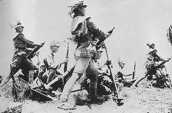 武漢會戰期間,防守信陽地區的國民革命軍第十七軍團。(公有領域)