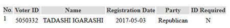 筆者在數據庫中核查到了五十嵐義的信息。(數據來源:內華達州政府數據庫)