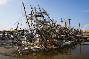 美國路州遭颶風艾達重創 滿目瘡痍(多圖)
