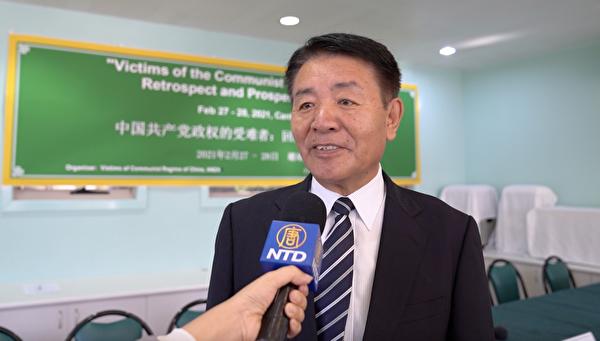 藏人行政中央駐澳紐代表措果拉巴在接受採訪時表示,西方民主國家應採取行動,抵制北京冬奧會。(新唐人影片截圖)