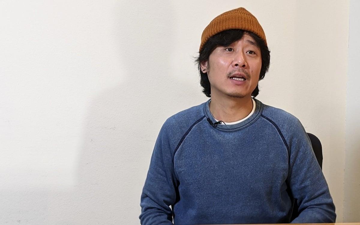 2020年10月24日,施太非於洛杉磯接受大紀元和新唐人專訪。(徐繡惠/大紀元)
