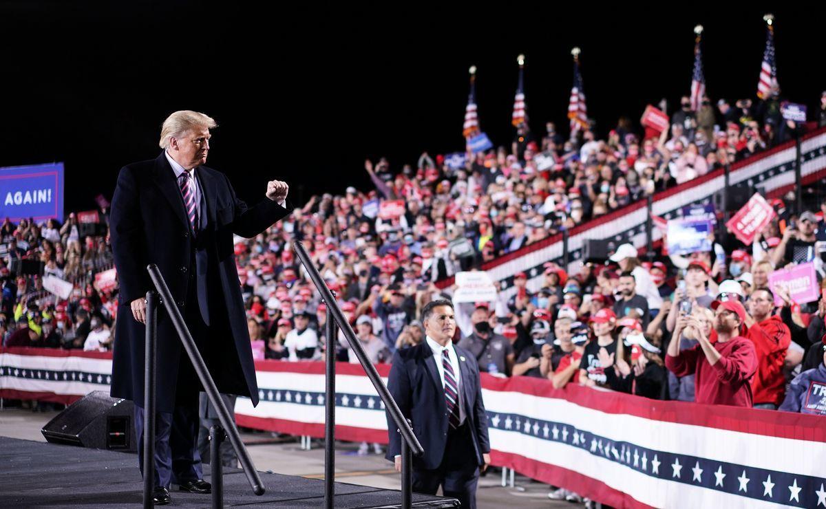 美國總統特朗普在9月22日的聯合國大會影片演講中說,「只有照顧好自己的公民,才能找到合作的真正基礎」。圖為2020年9月22日,特朗普在賓夕凡尼亞州月亮鎮的匹茲堡國際機場的競選集會上。(MANDEL NGAN/AFP via Getty Images)
