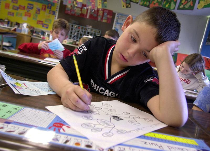 數學是種族主義?2+2=5?左派手冊引關注 圖為課堂上的美國小學生。(William Thomas Cain/Getty Images)