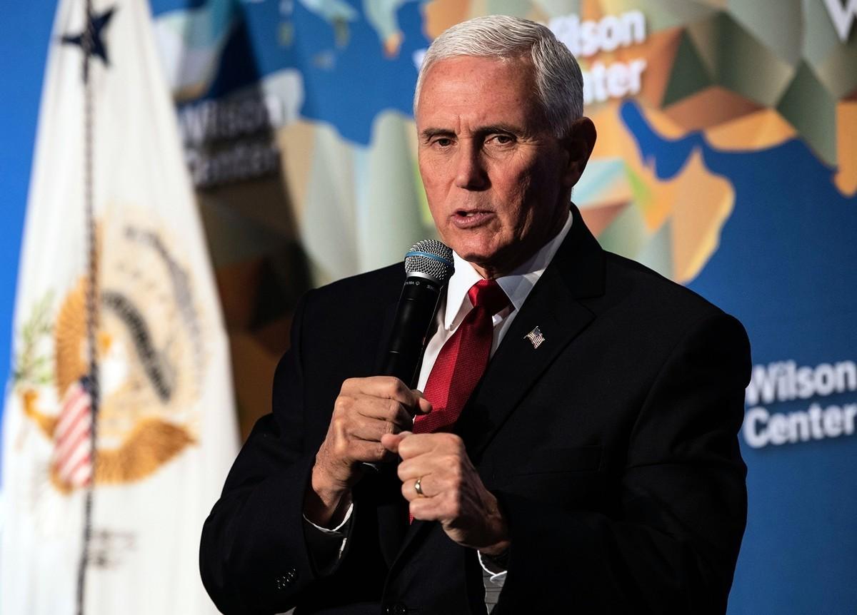 專家認為,美國副總統彭斯演講揭示中美對抗重點將側重普世價值的堅守,而台灣扮演關鍵角色。(NICHOLAS KAMM/AFP)(NICHOLAS KAMM/AFP via Getty Images)