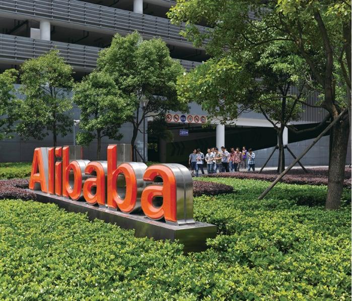 近日,中共杭州市政府將100名官員進駐阿里巴巴等第一批100家大型私企。有網民表示,中共開始吞併私企了。 圖為在杭州的阿里巴巴總部。(WANG ZHAO/AFP/Getty Images)