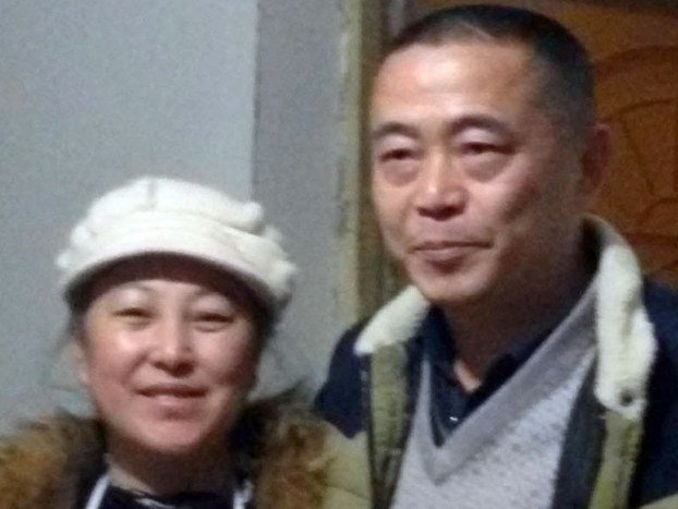 2016年2月18日,黃琦和楊秀瓊被帶走前留影。(李昭秀提供)