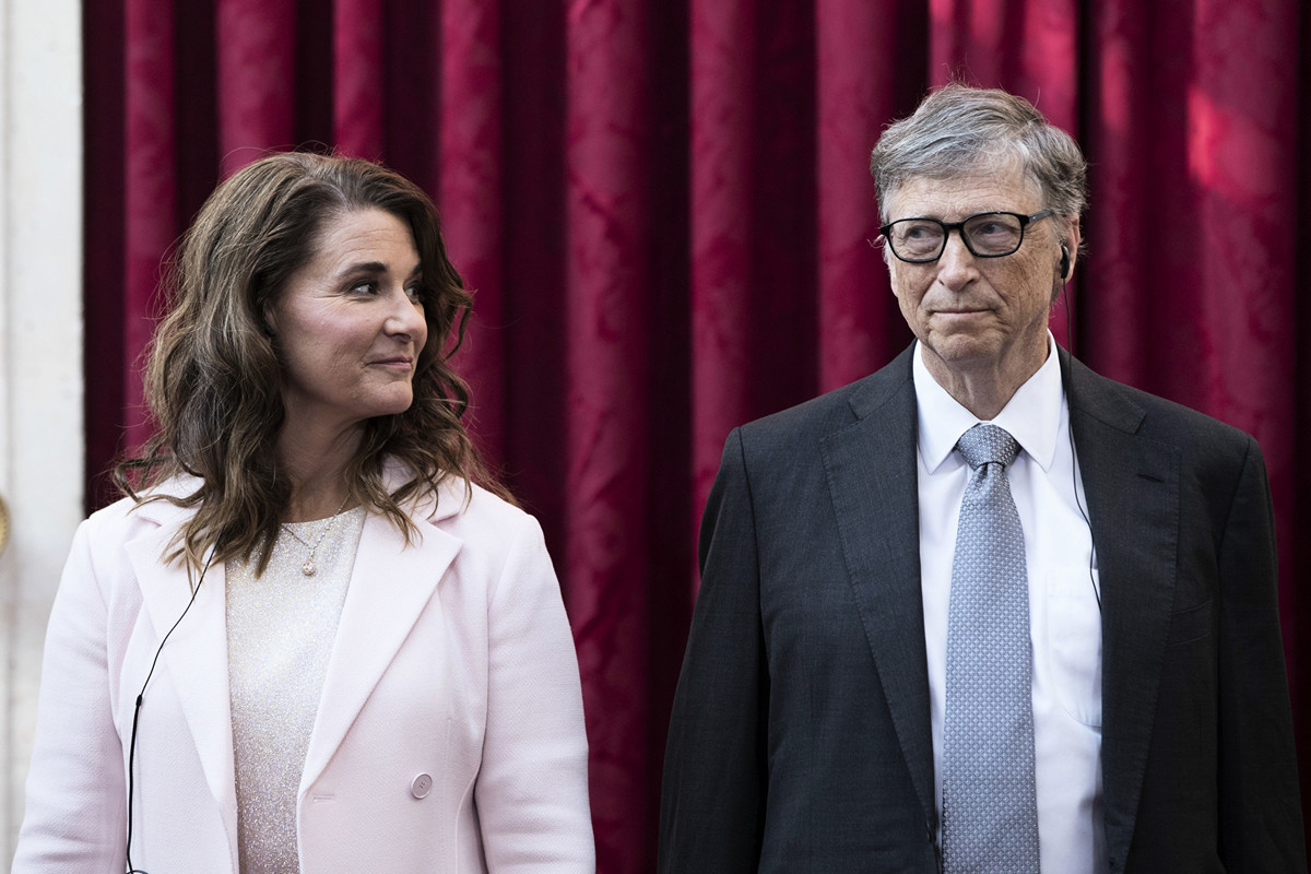 微軟創始人比爾和梅琳達蓋茨(Bill & Melinda Gates)夫婦。(Kamil Zihnioglu/POOL/AFP)