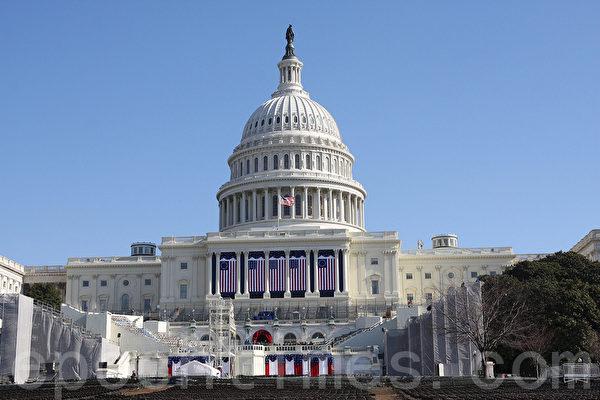 美國近20名聯邦眾議員擬提決議案,譴責中共瞞疫及散播謠言。圖為美國國會。(Lisa Fan/大紀元)