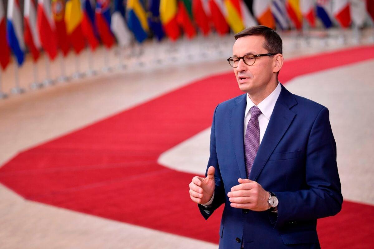 波蘭總理馬特烏斯·莫拉維茨基(Mateusz Morawiecki)。(John Thys/ Pool/AFP via Getty Images)