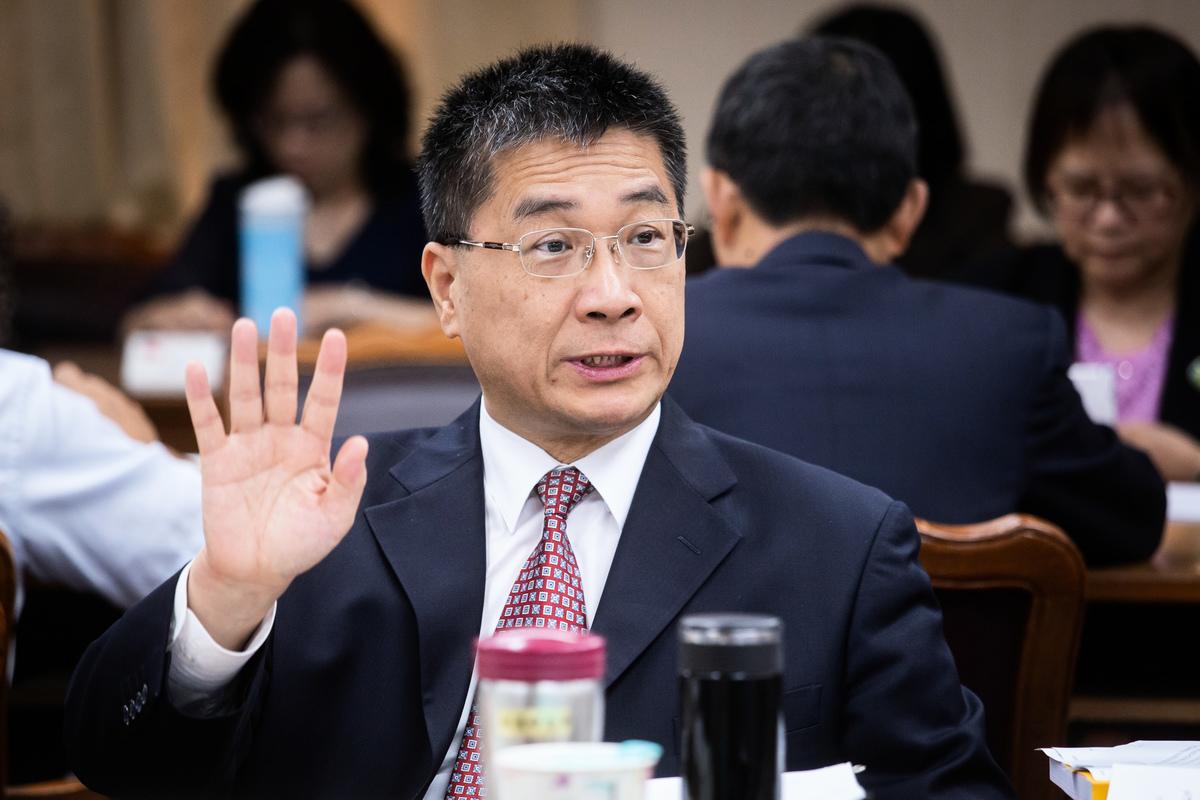 內政部長徐國勇23日出席立法院內政委員會。 (陳柏州)